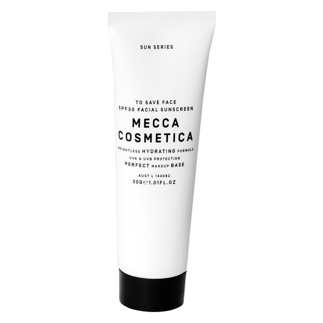 Mecca Cosmetic Save Face Sunscreen 30ml, $15