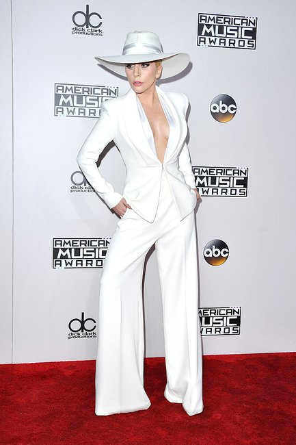 Lady Gaga Amas suit