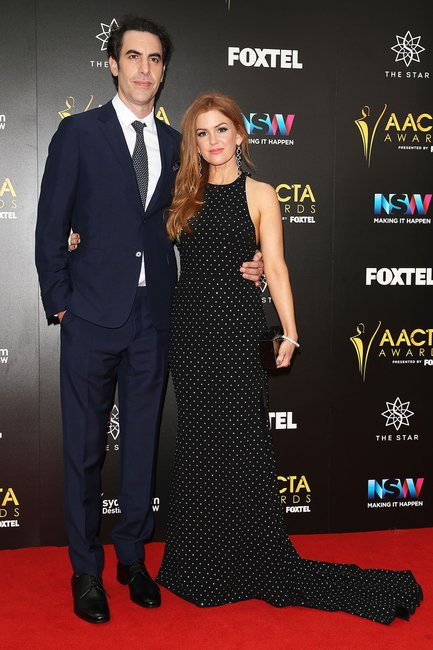 Isla Fisher and Sacha Baron Cohen AACTAs