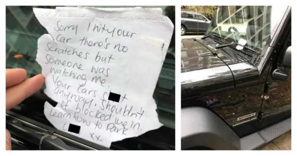 Note Left On Sydney Car Is The Worst Apology Ever Sorry Not Sorry