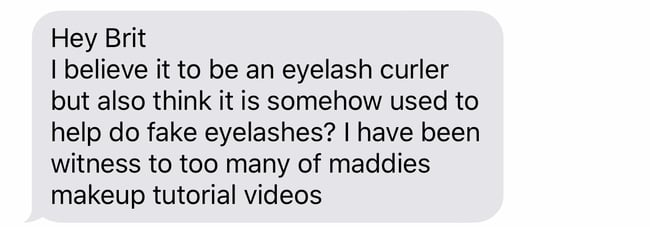 eyelash curler text