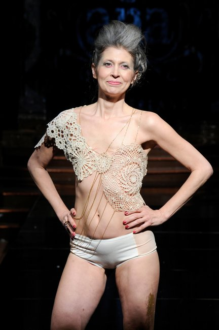 breast cancer lingerie new york fashion week