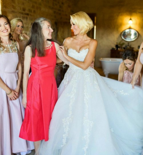 Anna Camp Wedding.Need Inspo Some Of Our Favourite Celebrity Wedding Dresses Of All Time