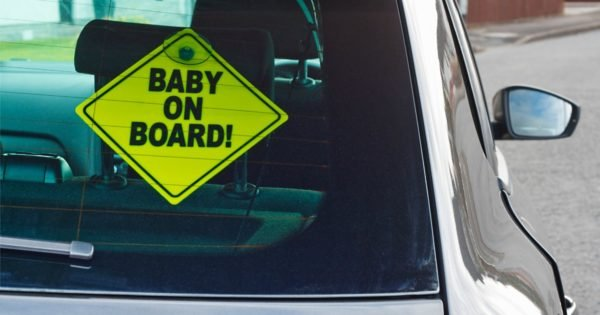 What's the point of baby on board stickers on cars?