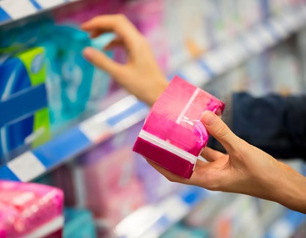 buying pads tampons