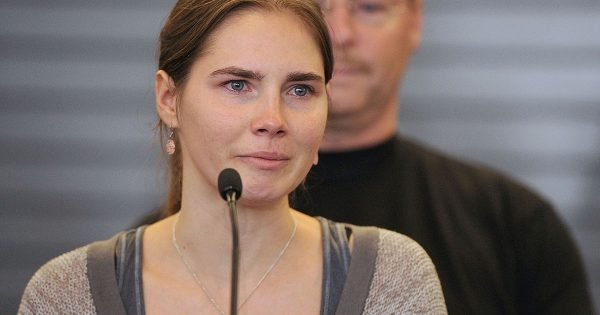 Amanda Knox trial. Image via Getty.