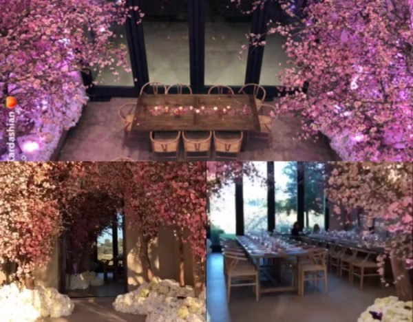 Kim Kardashian Baby Shower A Cherry Blossom Theme