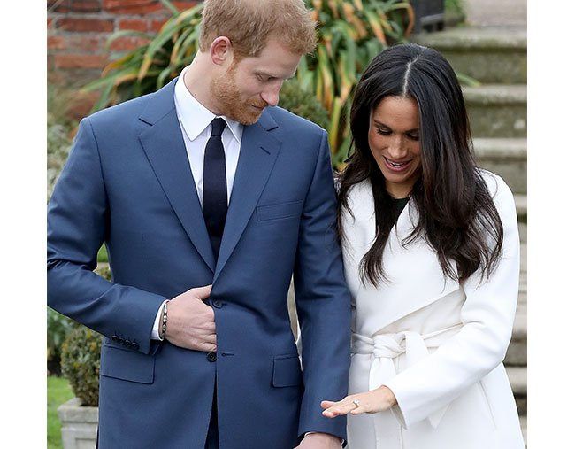 meghan markle prince harry engagement pics ring