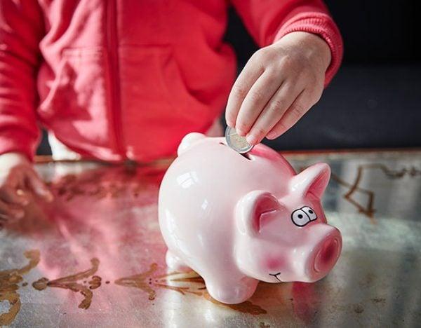 kids savings pocket money piggy bank