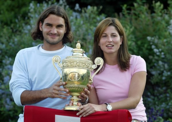 oger Federer and then- girlfriend Mirka