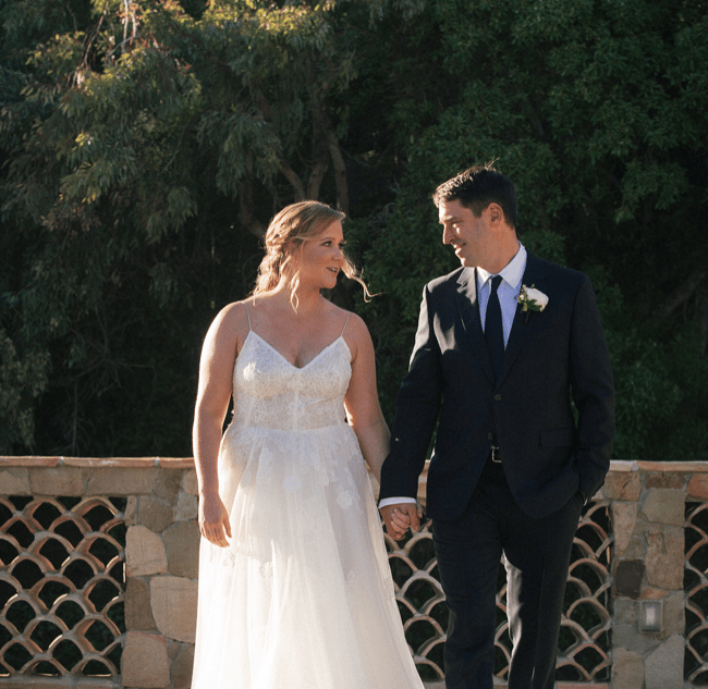 Amy Schumer's surprise Malibu wedding.