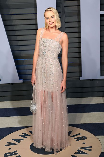 Margot Robbie oscars after party 2018