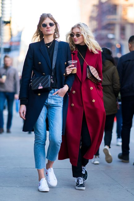 denim street style fashion week