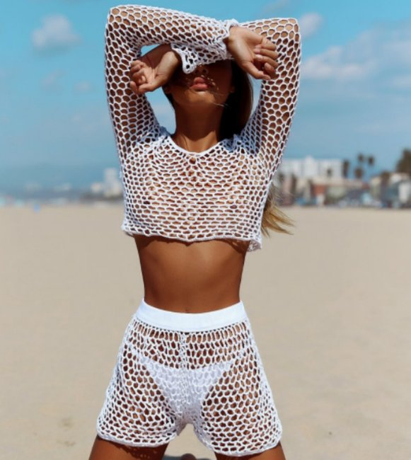c9a1bd01a609 This Kylie Jenner Aussie crop top and shorts set sold out in minutes.
