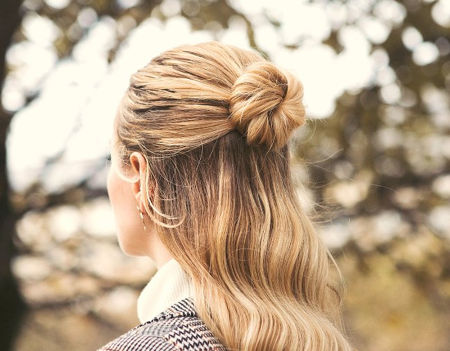 Half Up Bun And Low Bun Hairstyles That Ll Make You Look Chic And