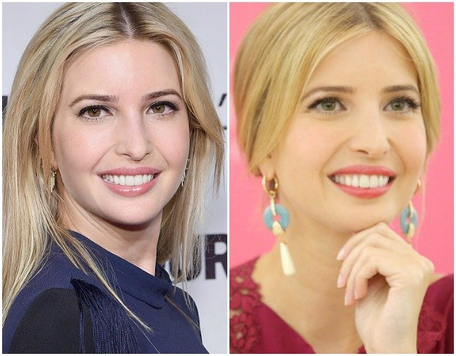 Celebrities That Use Coloured Contacts Like Jen Aniston And Ivanka Trump