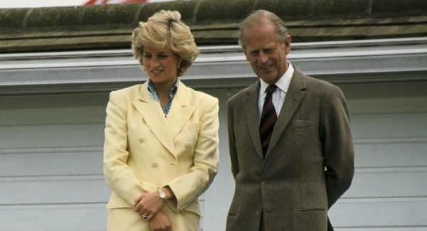 Princess Diana and Prince Philip. Image: Getty.