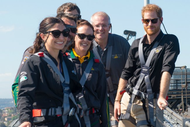 Prince Harry Sydney Harbour Bridge