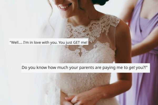 A bride told her wedding planner she was in love with him. His response was… brutal.