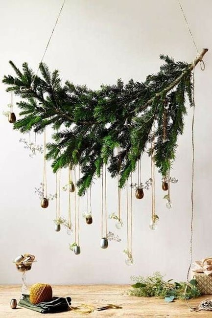 Asymmetrical Christmas wreaths