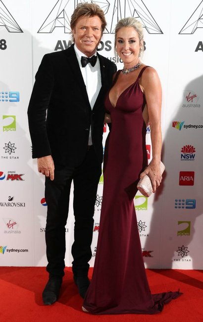 ARIA Awards 2018 red carpet Richard-Wilkins-and-new-Virginia-Burmeister