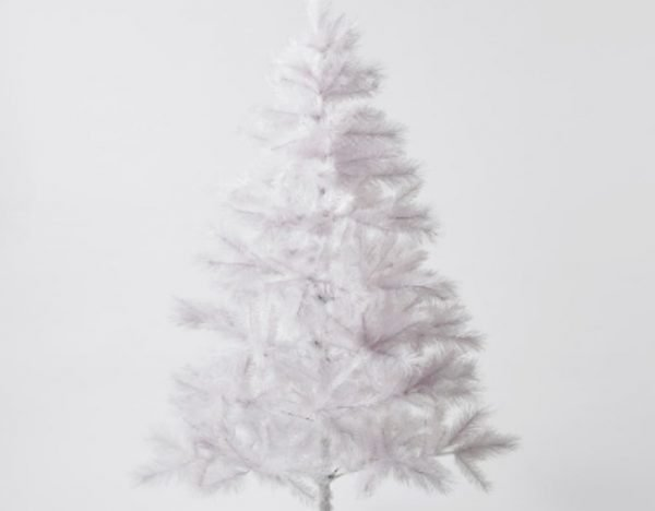 Classic white Christmas tree.