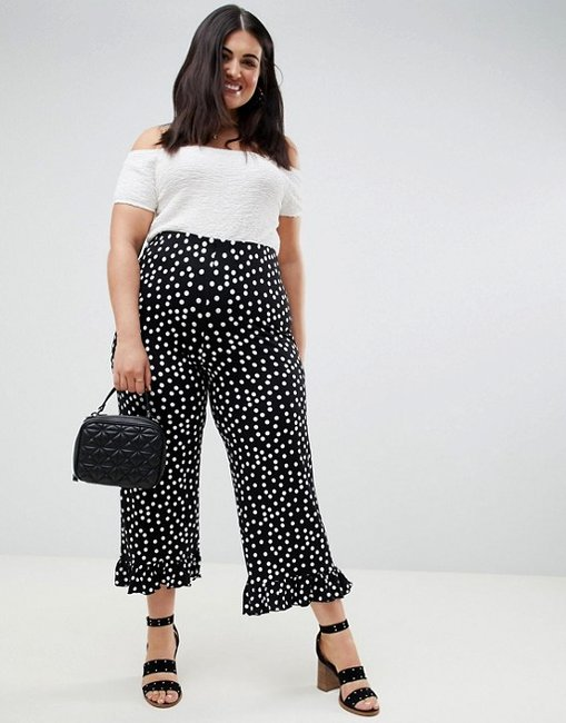 ASOS Design Curvy Fluted Ruffle Pants
