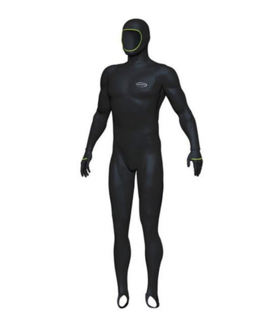 Mirage Adult Lycra Protector Stinger Wetsuit with hood. Image via Find Sports.