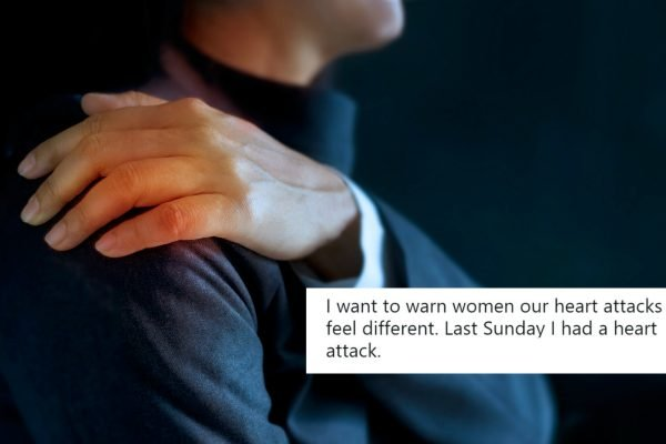 The story about an unusual heart attack symptom that's being shared as a warning to women.
