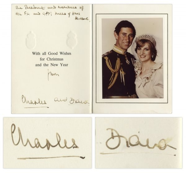 Princess Diana Prince Charles Christmas Card