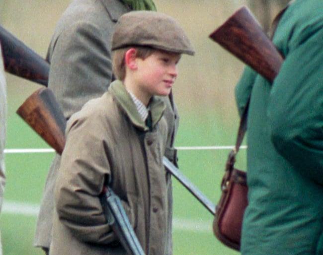 Prince Harry shoot at Sandringham, 1996