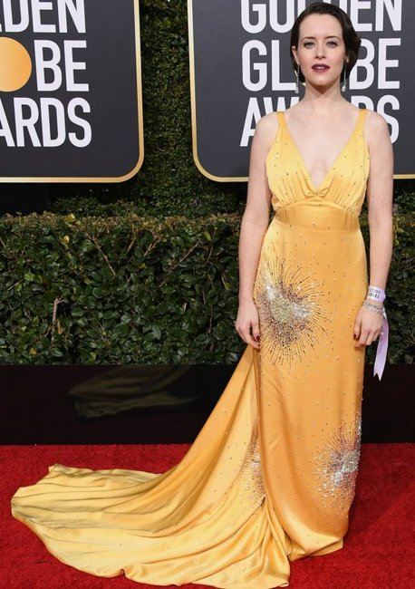 golden globes 2019 red carpet fashion Claire Foy