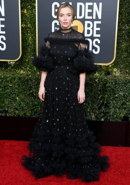 golden globes 2019 red carpet fashion Jodie Comer