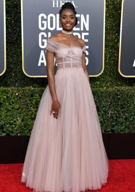 golden globes 2019 red carpet fashion Kiki Layne