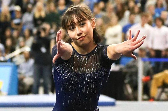 The Story Behind Katelyn Ohashi S Viral Floor Routine For
