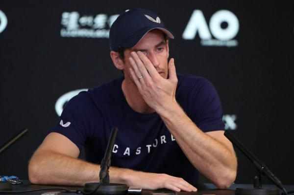 Andy Murray as he contemplated retirement. Image via Getty.