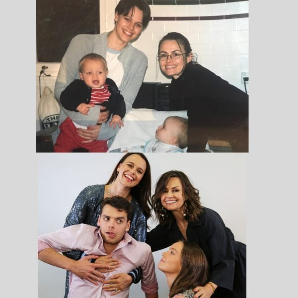 Two photos, 20 years apart. Image provided.