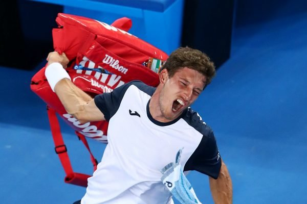 Booed off the court: Pablo Carreno Busta served up the biggest meltdown of the Australian Open.