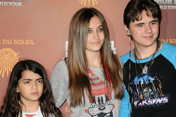 Blanket Jackson, Paris Jackson and Prince Michael Jackson attend the Los Angeles opening of 'Michael Jackson THE IMMORTAL World Tour' at Staples Center on January 27, 2012 in Los Angeles, California. (Photo by Jason LaVeris/FilmMagic)
