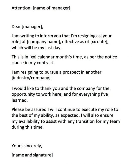 Friendly Resignation Letter Samples from cdn.mamamia.com.au