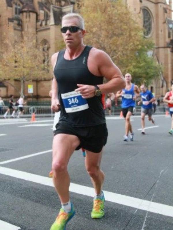Hamish McLaren running the 2014 SMH Half Marathon