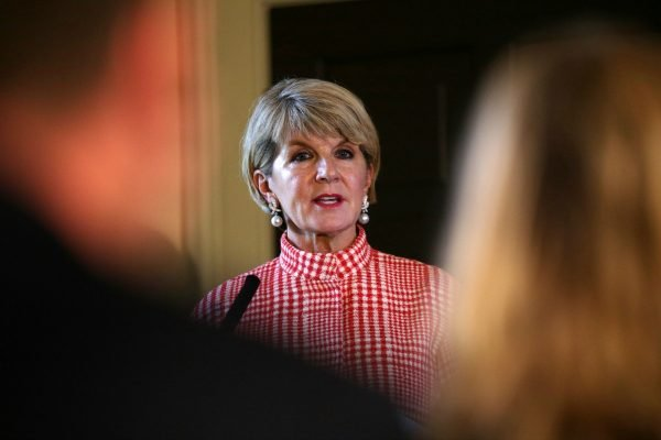 julie bishop resignation