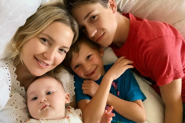 a1b238d90 Kate Hudson kids: How the actress raises her three kids with three dads.