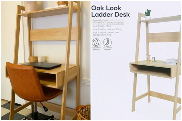 The $49 Kmart desk that fits anywhere, so your dining table isn't always covered in sh*t.