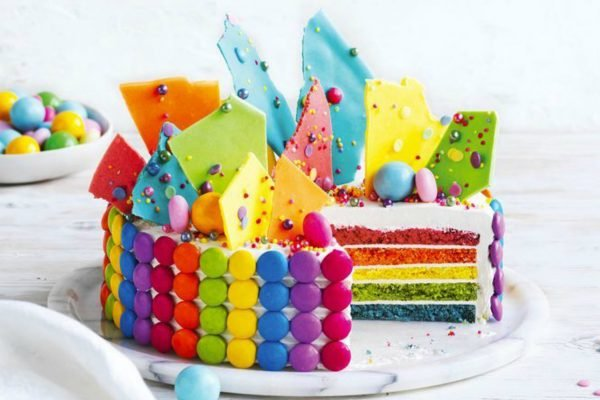 Coles is selling a $16 fancy looking rainbow cake for your kids' next birthday party.