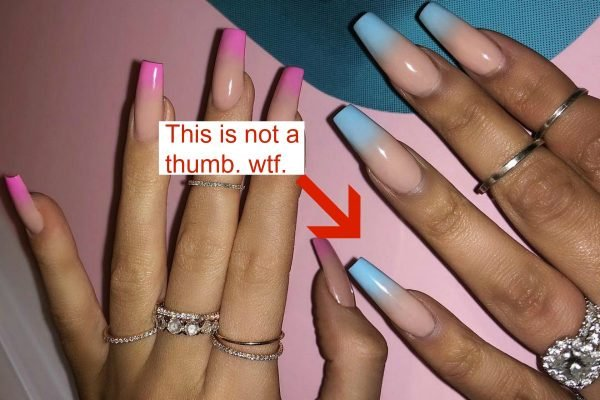 Kylie Jenner pregnant nails