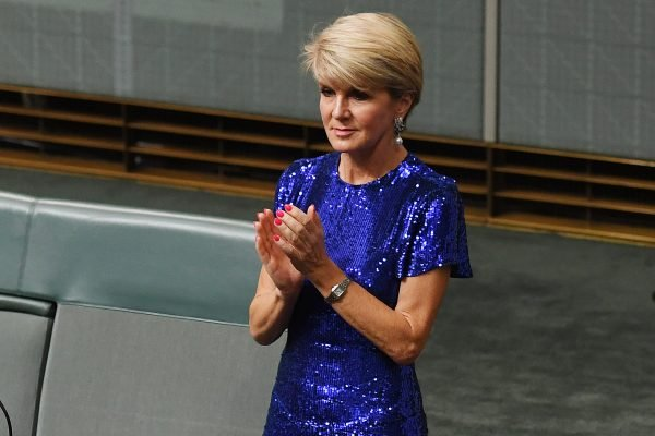 We all need to talk about the glorious dress Julie Bishop wore on Budget night.