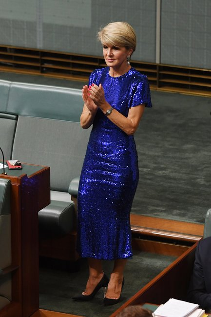 julie bishop budget dress