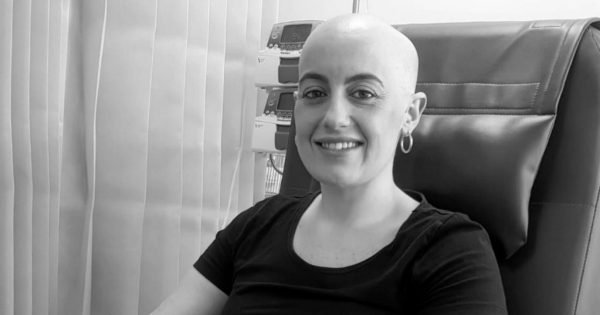 Alisha during chemotherapy. Image supplied.