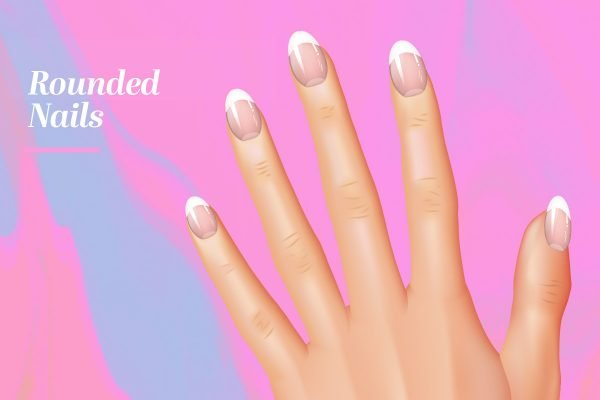 nail shapes rounded